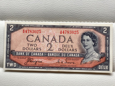 1954 Bank of canada 2 Dollars Devil's face Coyne Towers AB 4783025