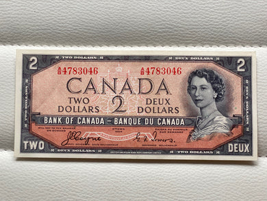 1954 Bank of canada 2 Dollars Devil's face Coyne Towers AB 4783046