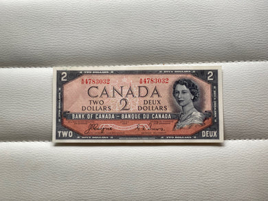 1954 Bank of canada 2 Dollars Devil's face Coyne Towers AB 4783032