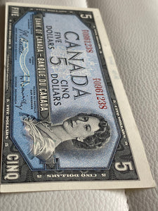 1954 Bank of canada 5 Dollars Beattie-Raminsky P/X 0961238