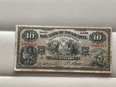 1935 The Bank of Nova Scotia 10 Dollars Mcleod Patterson serial: 1600419 - Trade your coins