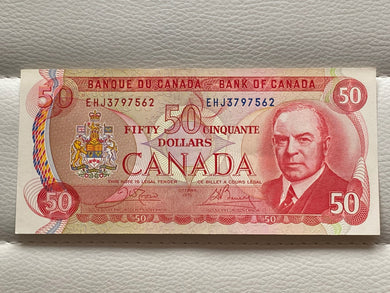 1975 Bank of canada 50 Dollars Crow-Bouey EHJ 3797562