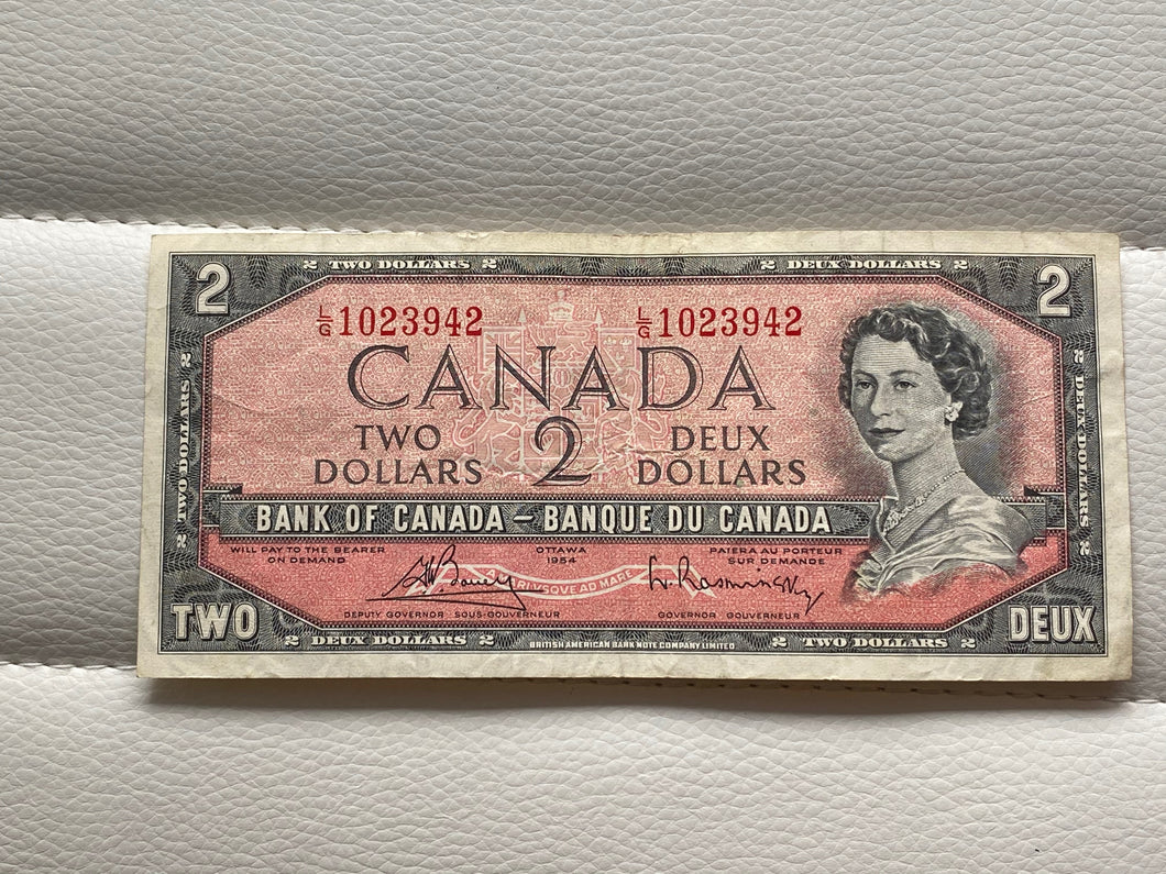 1954 Bank of canada 2 Dollars Bouey Raminsky LG 1023942