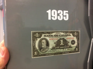 Numi Album For Canadian Banknote 1935