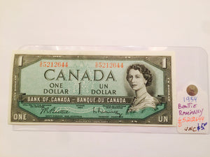 1954 Bank of canada 1 Dollar Beattie Kaminsky G0 5212644