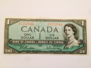 1954 Bank of canada 1 Dollar Beattie Raminsky G0 5212644