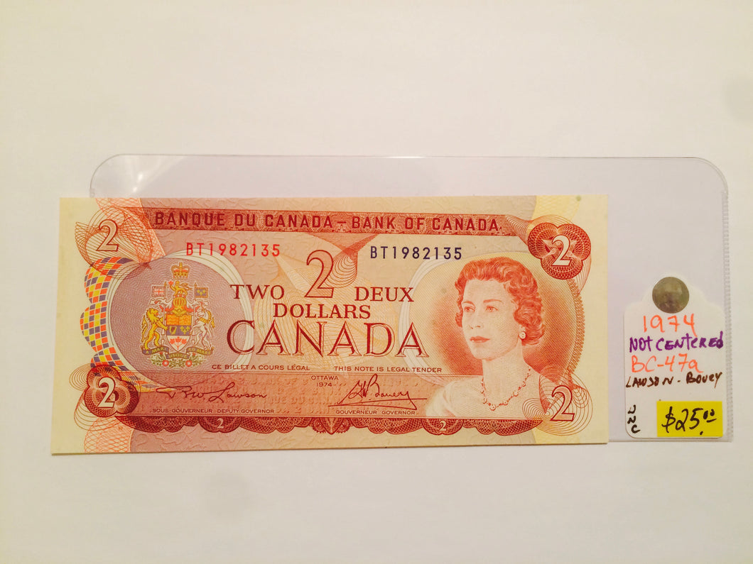 1974 Bank of canada 2 Dollars Lawson-Bouey BT 1982135