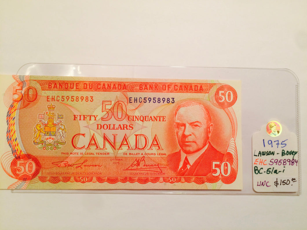 1975 Bank of canada 50 Dollars Lawson-Bouey EHC 5958983