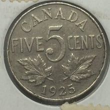 1925 Canada 5 Cents-King Georges V Key-date Lot#32