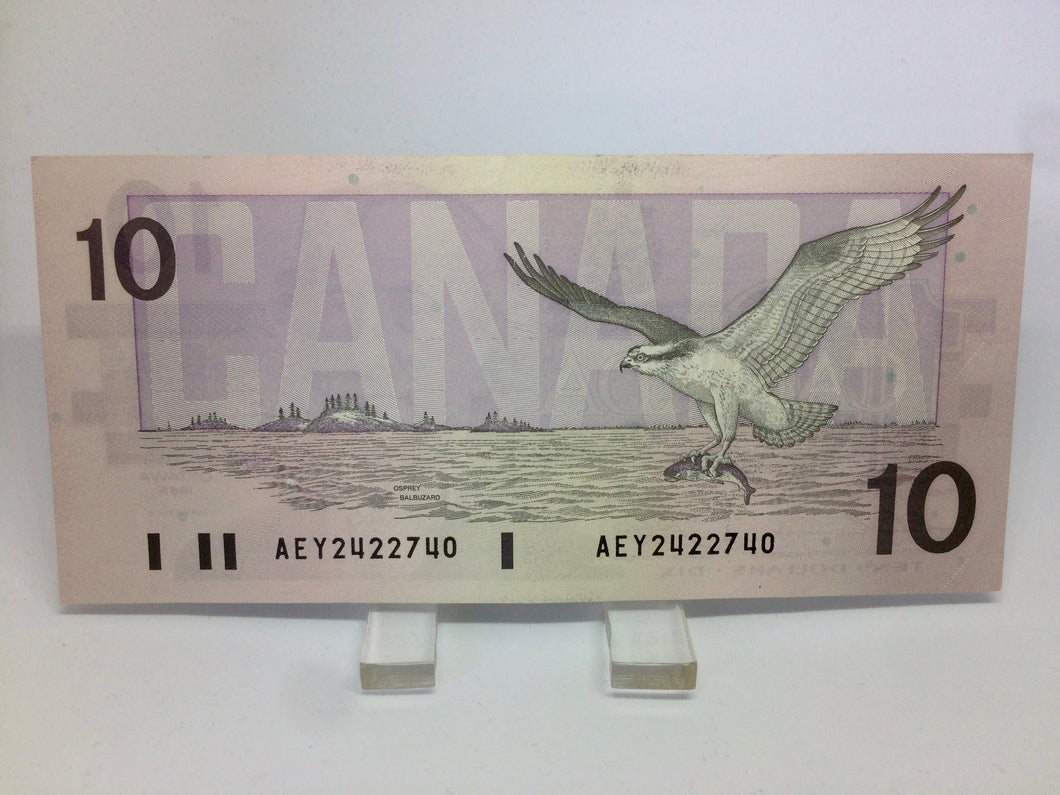 1989 Bank of Canada 10 Dollars Macdonald Banknote AEY 2422740