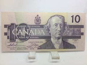 1989 Bank of Canada 10 Dollars MacDonald Banknote AES 3704810