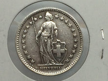 1943 B Switzerland 2 Francs Silver