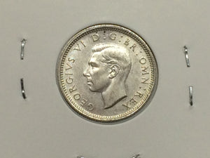1944 Great Britain Silver Sixpence