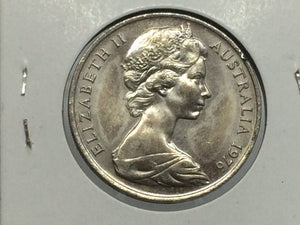 1975 Australia, Twenty Cents, 20c, Elizabeth II - Uncirculated