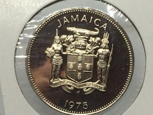 1975 Jamaica UNC 25 Cents