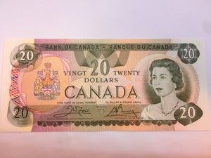 1979 Canada Banknote Crow-Bouey BC-54b-i Serial: 50808702106