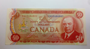1975 Bank of canada 50 Dollars Crow-Bouey EHH 3686882