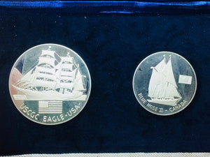 1976 Commemorative Our Maritime Heritage Sterling 2-medals set