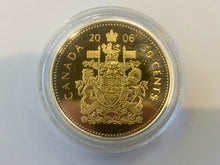 2006 Commemorative Canada Fifty Cents SilverProof  Gold Plated Heavy cameo from Mint report