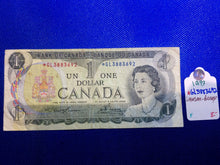 1973 Bank of Canada 1 Dollar Replacement Note Serial: *GL3883692