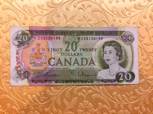 1969 Bank of canada 20 Dollars Beattie Raminsky Replacement Note Serial: *EX3134199