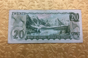 1969 Bank of canada 20 Dollars Beattie Raminsky Replacement Note Serial: *EB2276068