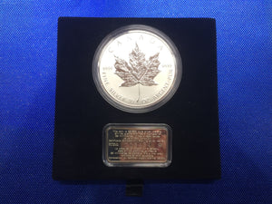 1998 Canada Fifty Dollars Proof coin-10 OZ Fine Silver-10th Anniversary of the Maple Leaf