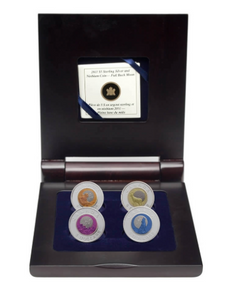2011-2012 Canada Sterling Silver and Niobium Five Dollars -4-COIN set in Display Case