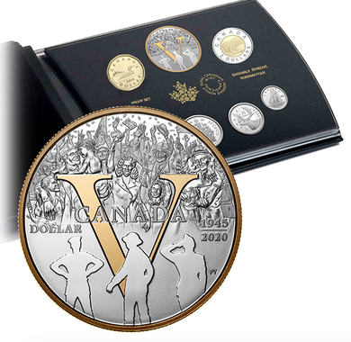 2020 Pure Silver Proof Set - 75th Anniversary of V-E Day