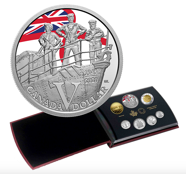 2020 Special Edition Silver Dollar Proof Set – 75th Anniversary of V-E Day: Royal Canadian Navy