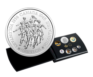 2020 Pure Silver Coloured 6-Coin Set with Medallion - Canadian Circulation Collection