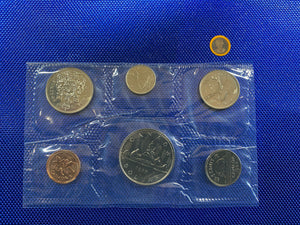1982 Canada Nickel Prooflike Uncirculated Coin Set