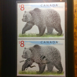 2004 Canada 8 dollars proof coin with stamp-The Polar Bear