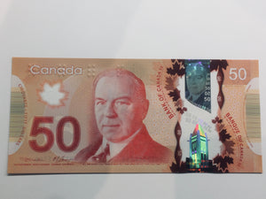 2015 Bank of Canada 50 Dollars BC-72aA UNC