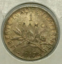 1917 France 1 Franc Silver #504 - Trade your coins