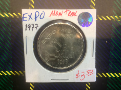 1977 Montreal Expo Dollar Token