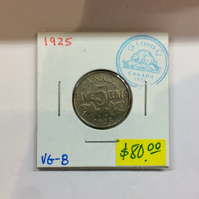1925 Canada 5 Cents-King Georges V Key-date - Trade your coins