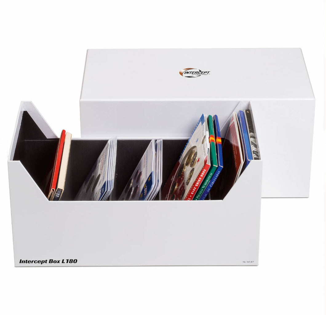 INTERCEPT L 180 BOX FOR COIN SETS, POSTCARDS, LETTERS AND DOCUMENTS UP TO 80 X 160 MM : 345417