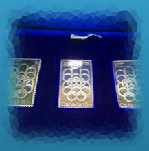 Canada Pur Silver Olympic Stamps 3 x Half Troy Oz set