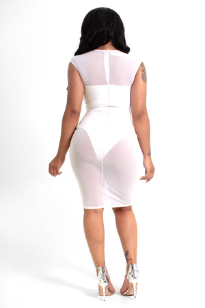 Harmony Sheer Cut Out Bandage Bodycon Dress