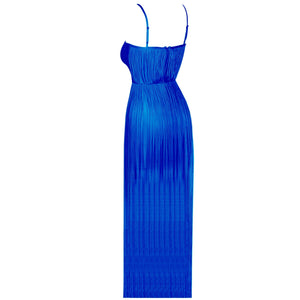 Goddess Strappy Sleeveless Maxi Long Tassels