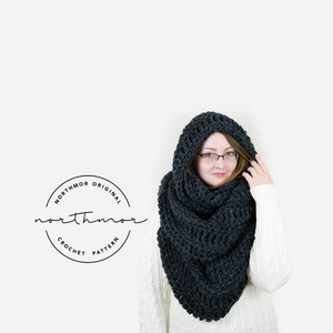 CROCHET PATTERN ⨯ The Arctic XL Infinity Scarf - Northmor