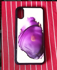 Alcohol Ink Flame Art iPhone X Case Gift For Her- CHERISH LEWIS Exclusive