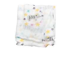 Cotton & Bamboo Baby Muslin swaddle (Bear with Stars) No. 35