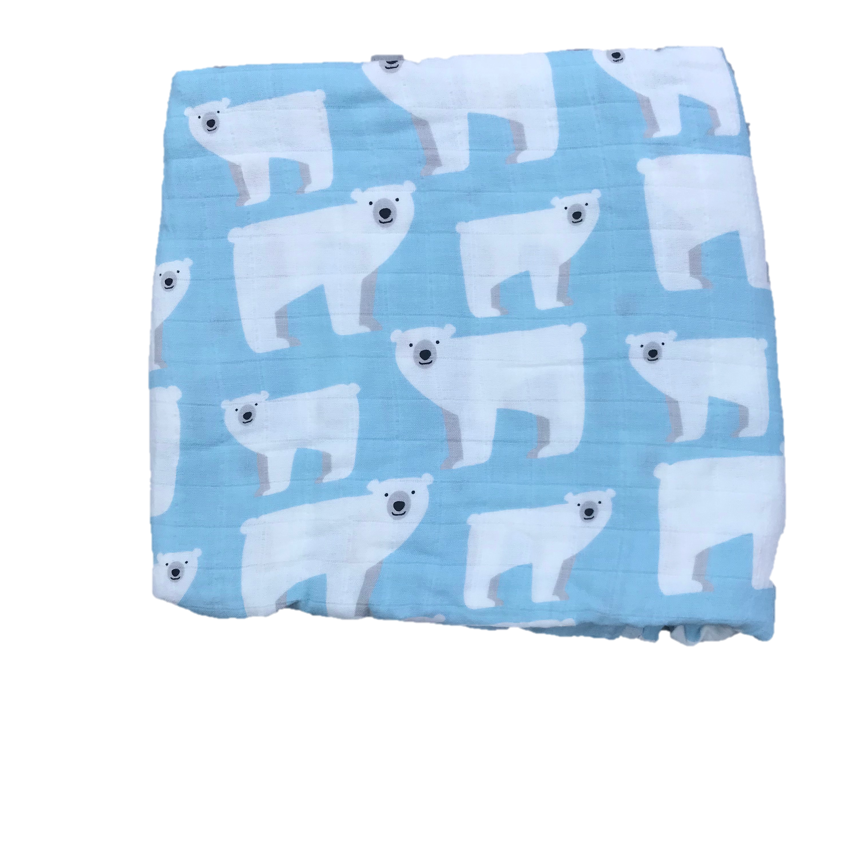 Copy of Cotton & Bamboo Baby Muslin swaddle (red fox grey) No. 42
