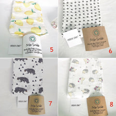 47 colors Bamboo/ Cotton Baby Muslin Swaddle Premium Quality
