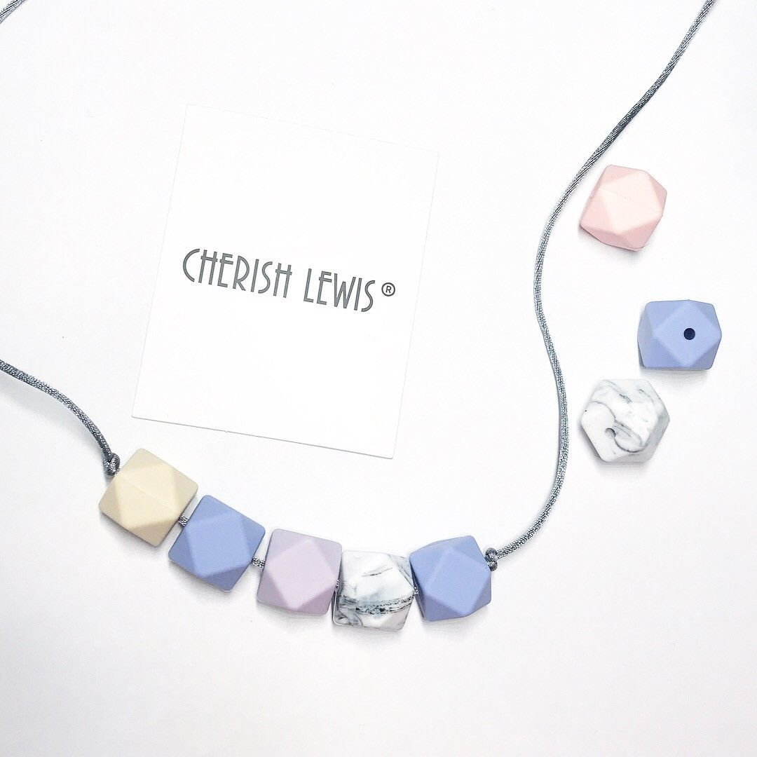 CHERISH LEWIS UK Silicone Personalize Baby TEETHING Ring Pick Your Own words