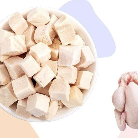 Pet Snack for Cat Freeze Dried- Chicken cubes 冻干鸡肉块