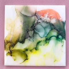 Alcohol ink art marble coaster special gift- CHERISH LEWIS Exclusive
