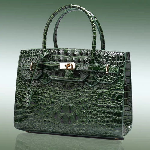 Crocodile Leather Bag(Green)